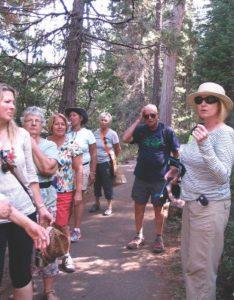 Kelly Hampton leading a Mount Shasta retreat
