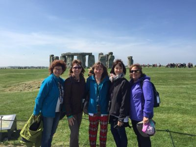 some ladie at stonehenge